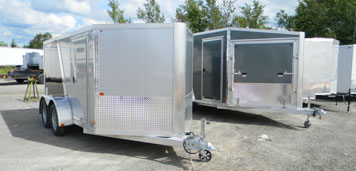 Picture of enclosed trailers